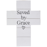 Saved By Grace Wood Wall Decor