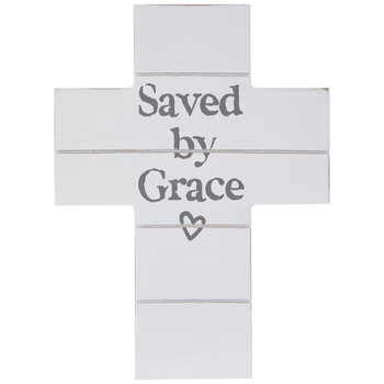 Saved By Grace Wood Wall Decor