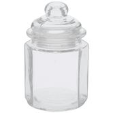 Octagon Glass Jar