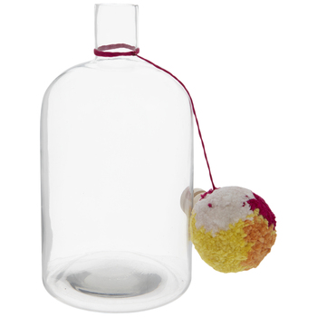 Pink, Yellow & Orange Glass Bottle