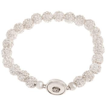 Rhinestone Bead Snap Bracelet