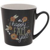 Happy Fall Y'all Floral Mug