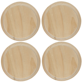 """Round Wood Plaques - 4"""""""