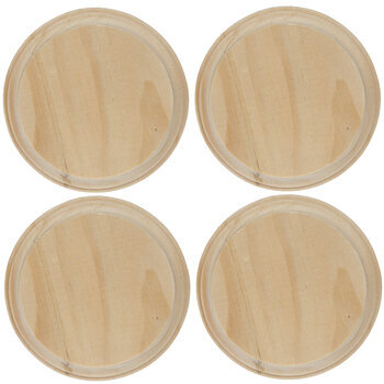 Round Wood Plaques - 4""