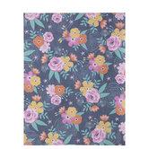 "Pink & Orange Floral Scrapbook Paper - 8 1/2"" x 11"""