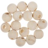 Round Wood Beads - 20mm
