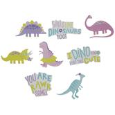 Girl Dinosaur Stickers