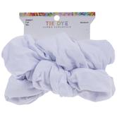 White Oversized Tie-Dye Scrunchies