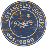 Los Angeles Dodgers Round Wood Wall Decor