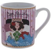 Queen For A Day Striped Mug