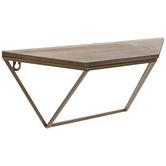 Gold & Brown Geometric Wood Shelf