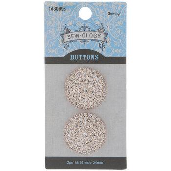 Rose Gold Rhinestone Shank Buttons - 24mm
