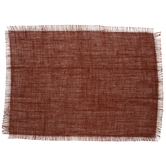 Burnt Orange Jute Fringe Placemats