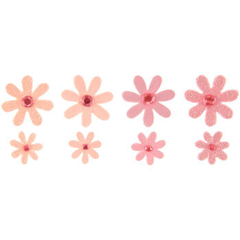 Rhinestone & Glitter Paper Flower Embellishments