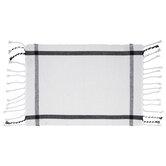 White & Black Grid Placemat
