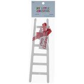 Mini Merry Christmas Wood Ladder