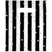 Black & White Striped & Polka Dot Zipper Bags