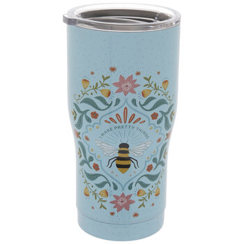 I Make Pretty Things Bee & Flowers Metal Cup