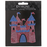 Castle Rhinestone Iron-On Applique
