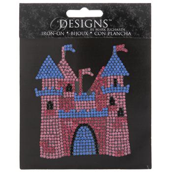 Castle Rhinestone Iron-On Applique