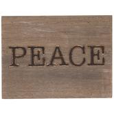 Peace Wood Decor