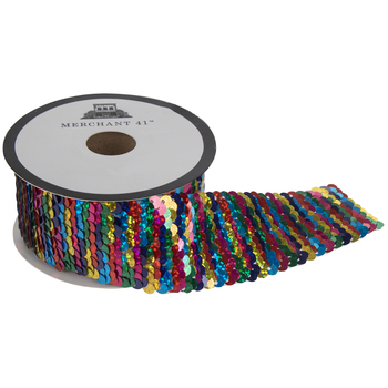 Iridescent Multi Mermaid Sequin Trim - 1 1/2""