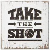 Take The Shot Wood Wall Decor