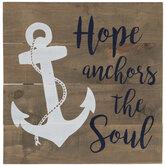 Hope Anchors The Soul Wood Wall Decor