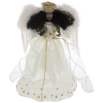 Angel With Ivory Dress Tree Topper