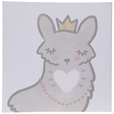 Fairy Llama Canvas Wall Decor