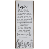1 Corinthians 13:4-8 Wood Wall Decor
