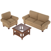 Miniature Light Brown Living Room Furniture