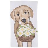 Floral Dog Kitchen Towel