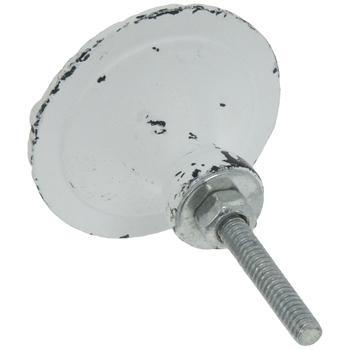 Antique White Round Hornet Metal Knob