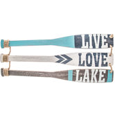 Live, Love, Lake Paddle Wood Wall Decor