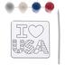 I Heart USA Suncatchers Craft Kit
