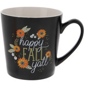 Happy Fall Y'all Floral Mug