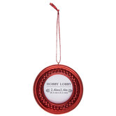 Red Round Frame Ornament