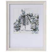 Floral Door Framed Wall Decor