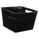 Black Square Container With Handles