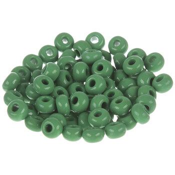 Opaque Green Czech Glass Seed Beads - 2/0
