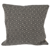 Black & Natural Diamond Pillow Cover