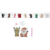 Santa & Reindeer Rhinestone Art Kit