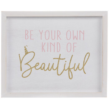 Be Your Own Kind Of Beautiful Wood Wall Decor