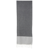 Black & White Fringe Table Runner
