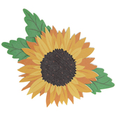 Sunflower Painted Wood Shape