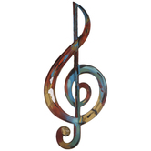 Rainbow Treble Clef Metal Wall Decor