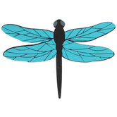 Foil Dragonfly Painted Wood Shape