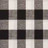 Black & White Buffalo Check Outdoor Fabric