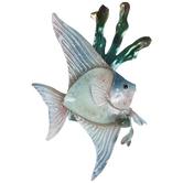 Blue Fish Metal Napkin Ring